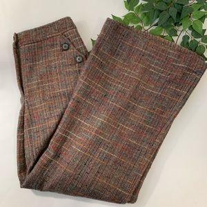 Anthro Catonnier 4 Monhegen Wool Plaid Tweed Pants